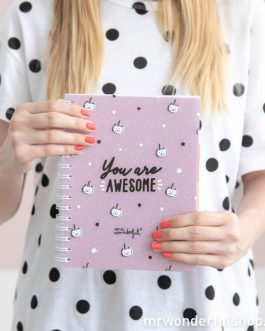 CADERNO – YOU ARE AWESOME